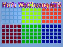 Stickers for 5x5 MoYu WeiChuang GTS