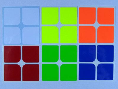 Наклейки на кубик 2х2х2