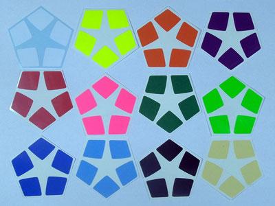 Stickers for Kilominx