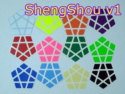 Наклейки на Мегаминкс ShengShou v1