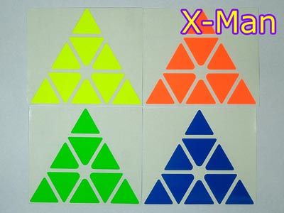 Stickers for Pyraminx X-Man