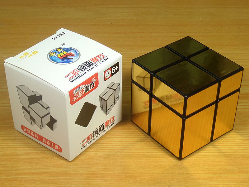 Mirror Blocks 2x2 Shengshou Silver Gold Puzzle Shop Cut Corner Cubes