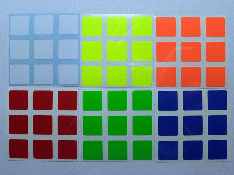 Наклейки на кубик рубика